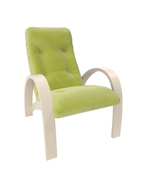 Кресло Impex Модель S7 Verona  сливочный (apple green) - фото 1