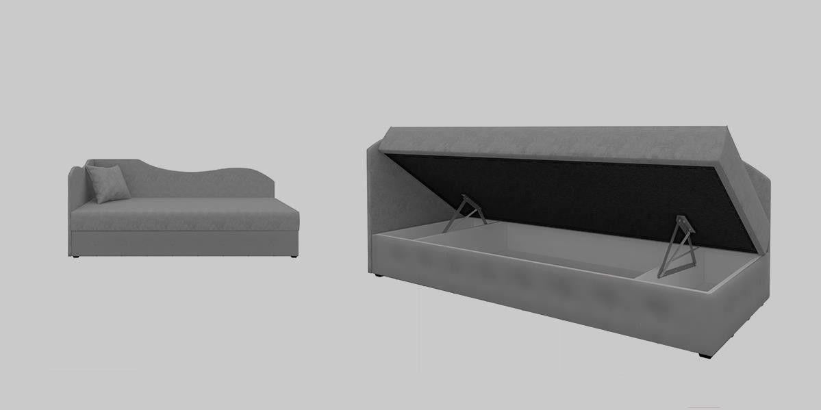 Диван Mebelico 74 правый микровельвет бежевый - фото 2