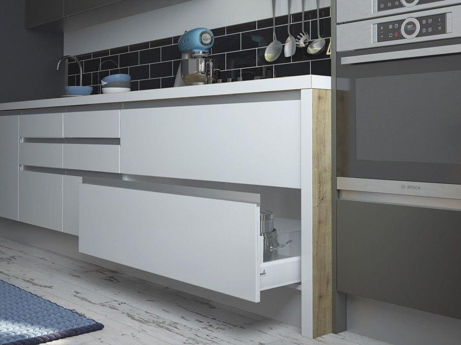 Кухня ЗОВ Из акрила Интегро Сахар/Песок - фото 3