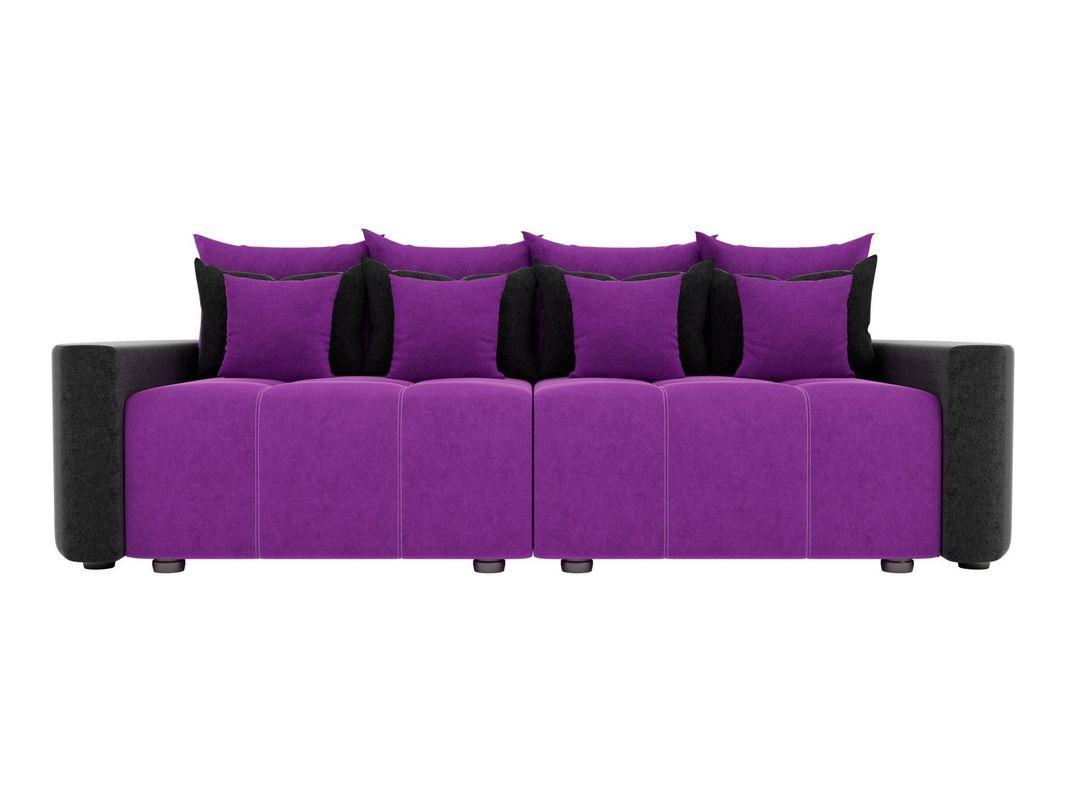 Диван ЛигаДиванов Бристоль вельвет фиолетовый/черный - фото 3