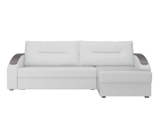 Диван ЛигаДиванов Канзас угловой правый 101163 экокожа белый - фото 3