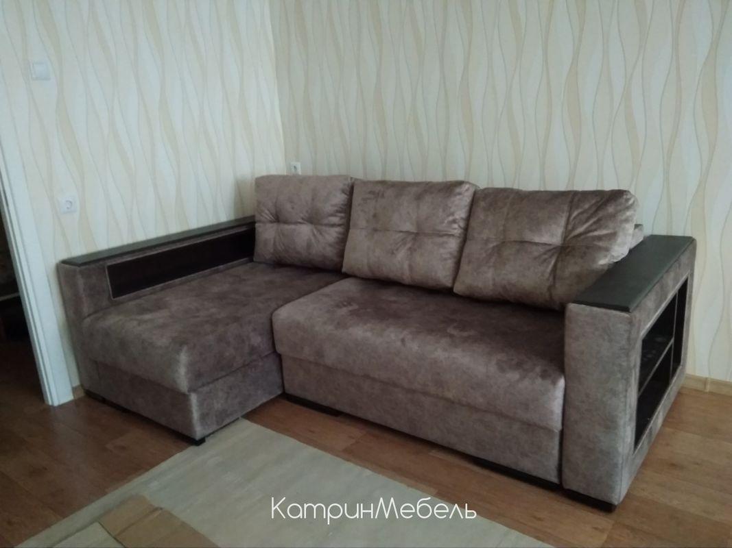 Диван DM-мебель Бристоль угловой (серо-коричневый) - фото 1