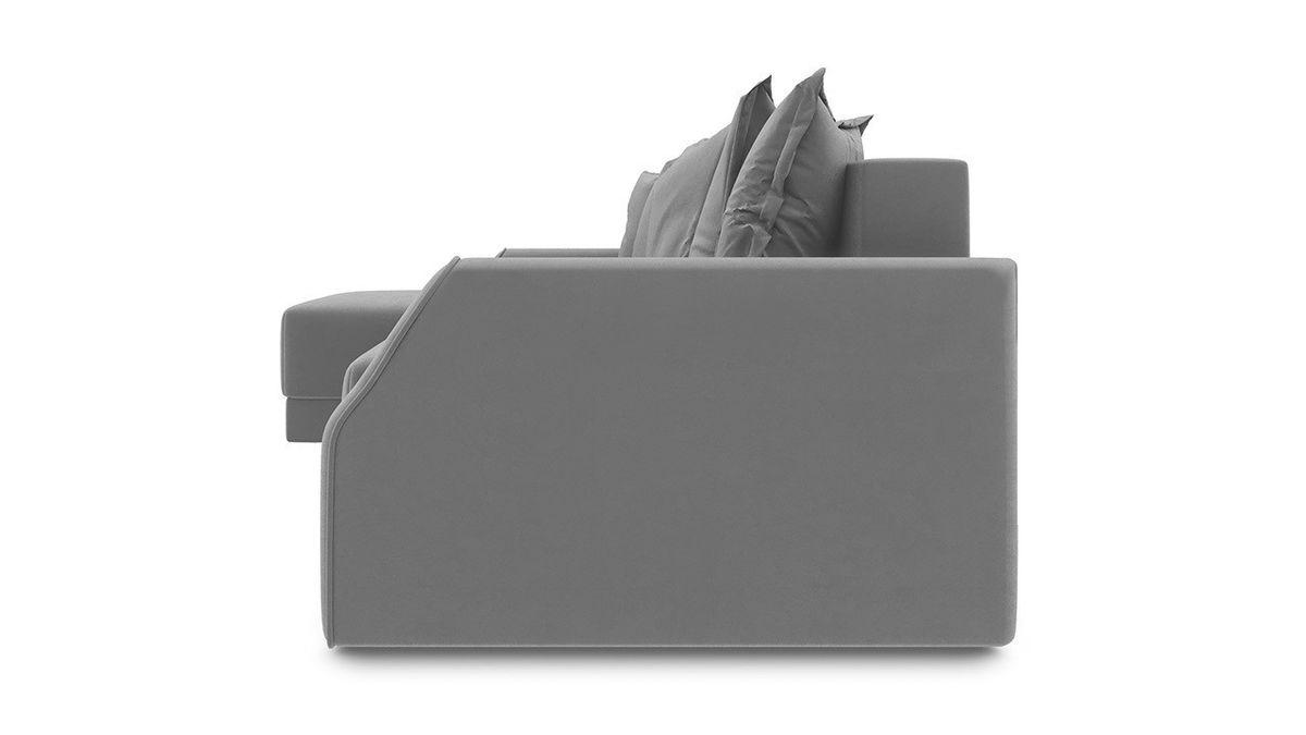 Диван ТриЯ левый «Люксор Slim Т1» (Neo 07 (рогожка) светло-серый) - фото 3
