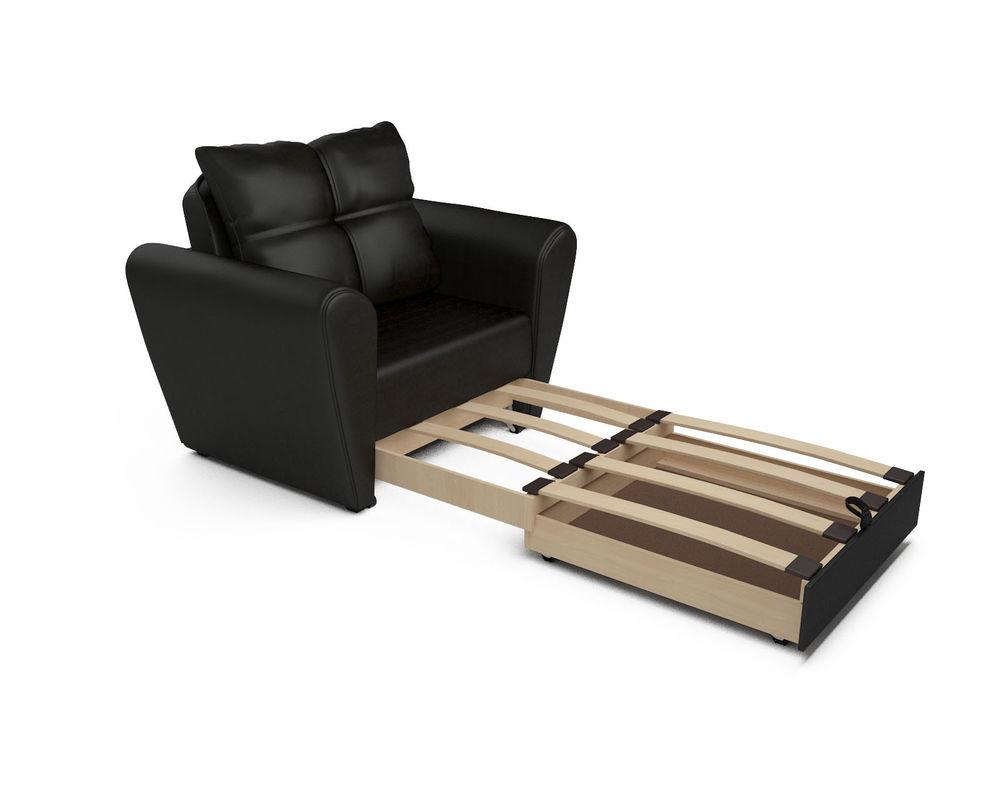 Кресло Мебель-АРС Квартет - экокожа черная - фото 6