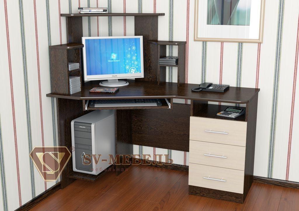 Письменный стол SV-Мебель №3 0137 (дуб млечный/дуб венге) - фото 1