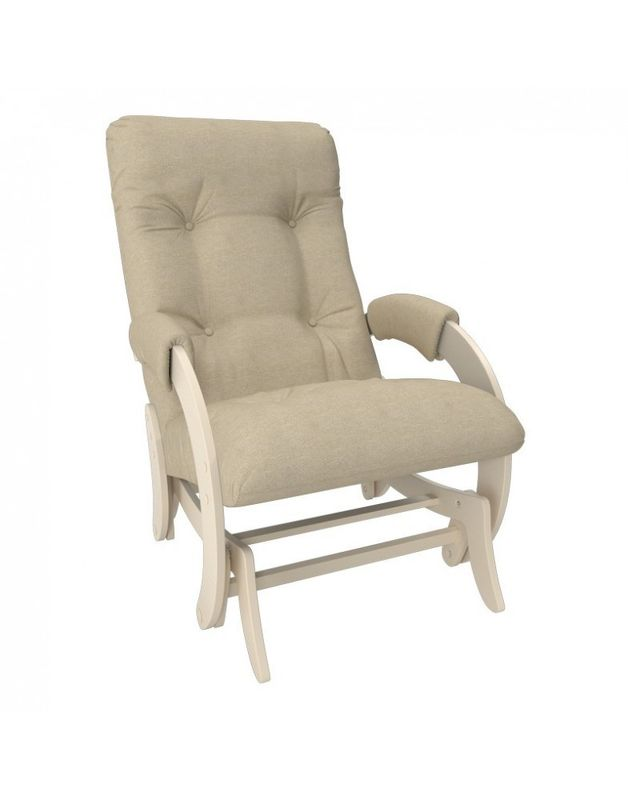 Кресло Impex Кресло-гляйдер Модель 68 Мальта сливочный (Мальта 1) - фото 1