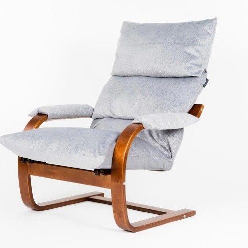 Кресло Greentree Онега вишня/ткань Лазурь - фото 1