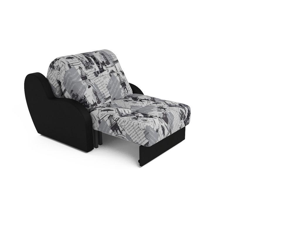Кресло Мебель-АРС Аккордеон Барон газета (жаккард + экокожа) - фото 5