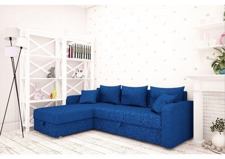 Диван Раевская мебельная фабрика Угловой в ткани Шинил синий 00404 - фото 1