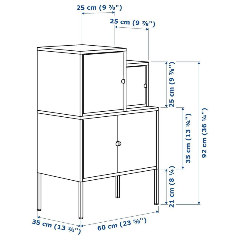 Шкаф металлический IKEA Ликсгульт 392.487.50 - фото 5