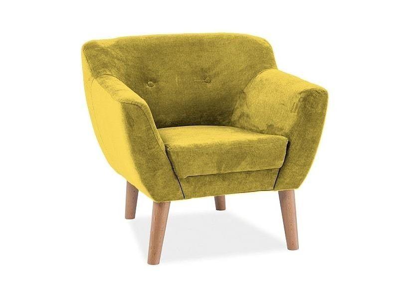 Кресло Signal BERGEN 1 Orinoco 1609 (желтый) BERGEN11609 - фото 1