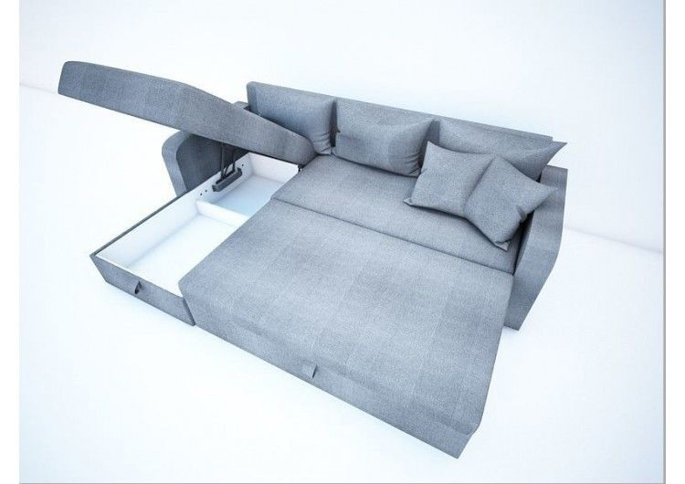 Диван Раевская мебельная фабрика Угловой в ткани Шинил синий 00404 - фото 2
