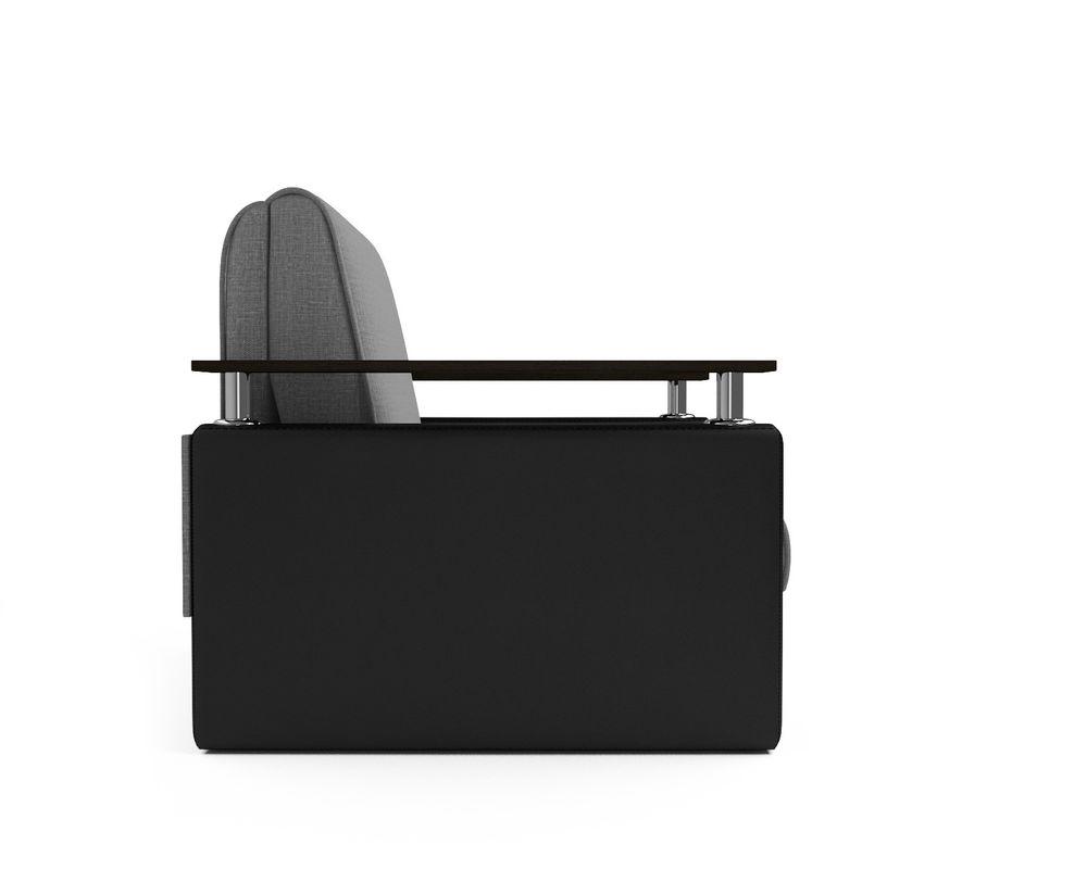 Кресло Мебель-АРС Шарм - Grey (рогожка + экокожа) - фото 3
