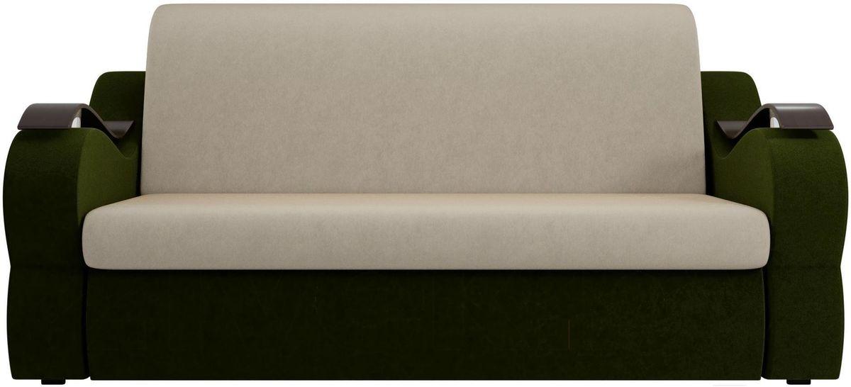 Диван Mebelico Меркурий 222 100, вельвет бежевый/зеленый - фото 3
