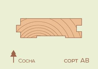 Доска пола Сосна 35*130мм, сорт AB - фото 1
