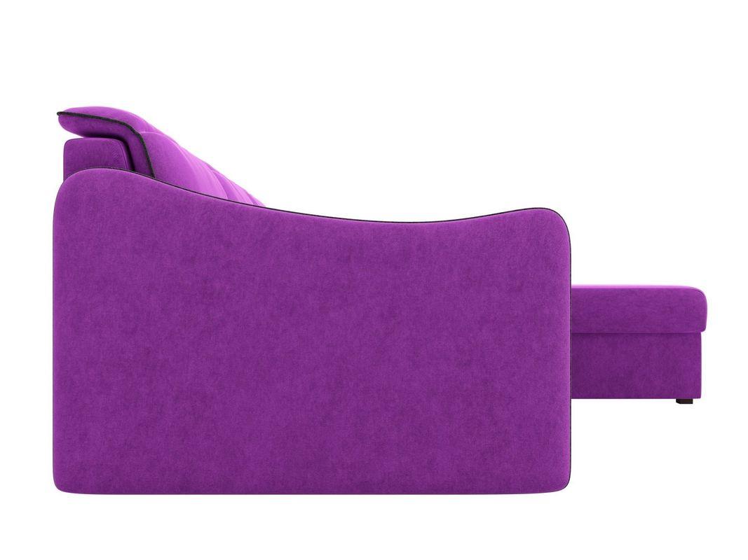 Диван ЛигаДиванов Скарлетт 125 угловой правый 60677 вельвет фиолетовый - фото 5