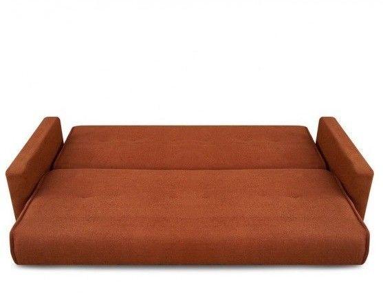 Диван Луховицкая мебельная фабрика Милан (Астра светло-коричневый) пружинный 120x190 - фото 4