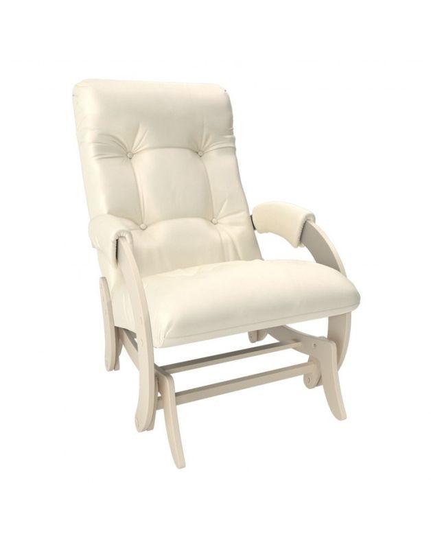 Кресло Impex Кресло-гляйдер Модель 68 экокожа сливочный (dundi 112) - фото 4