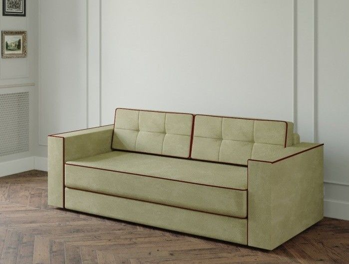 Диван Настоящая мебель Ванкувер Модерн (модель: 00-000034539) светло-зелёный - фото 1