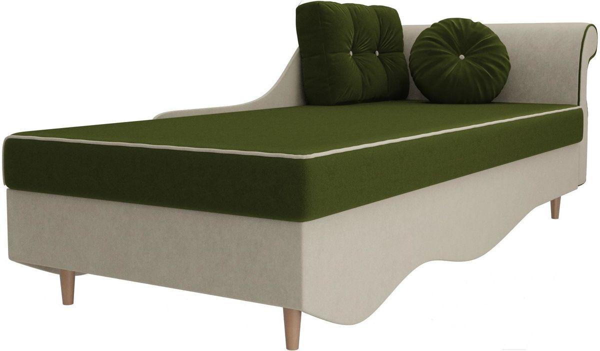 Диван Mebelico Лорд правый 101222 микровельвет зеленый/бежевый - фото 4