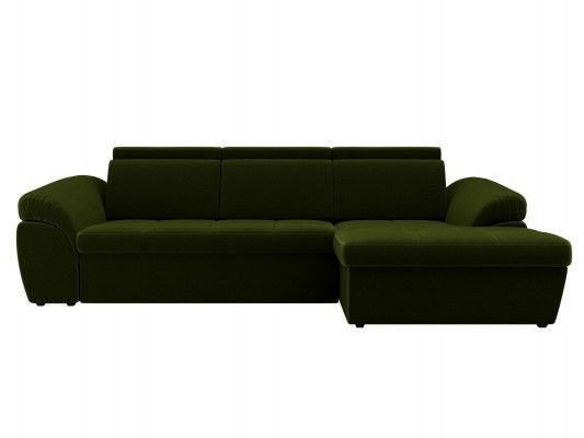 Диван ЛигаДиванов Мисандра угол правый микровельвет зеленый - фото 3