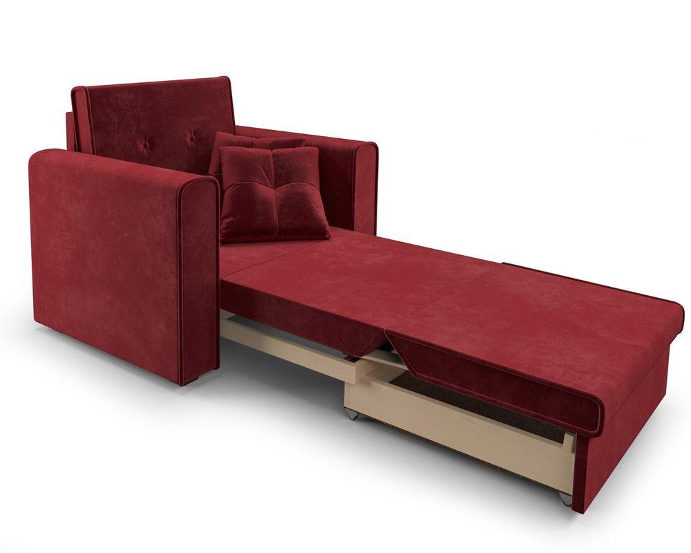 Кресло Мебель-АРС Санта (бархат красный) - фото 8