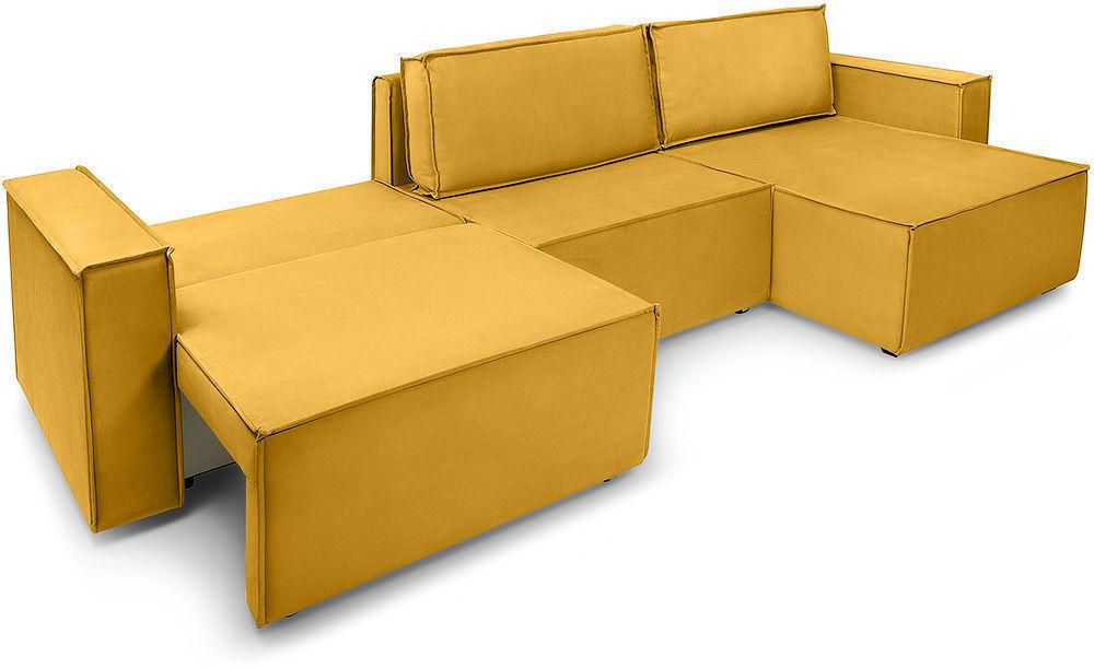 Диван Woodcraft Лофт Velvet Угловой Yellow - фото 4