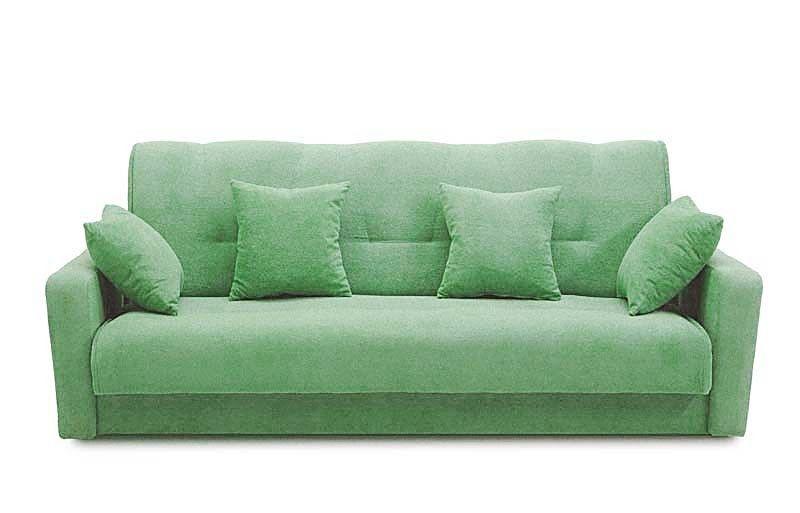 Диван Луховицкая мебельная фабрика Милан 120х190 гобелен/шенилл зеленый - фото 1