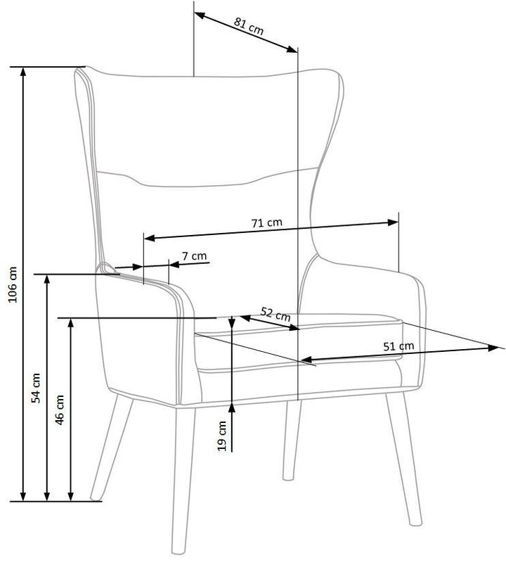 Кресло Halmar Favaro (темно-зеленый) - фото 3