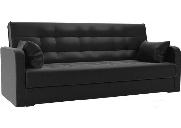 Диван Луховицкая мебельная фабрика Надежда (экокожа черная) 120x180 - фото 1
