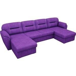 Диван ЛигаДиванов Бостон п-образный велюр фиолетовый - фото 2