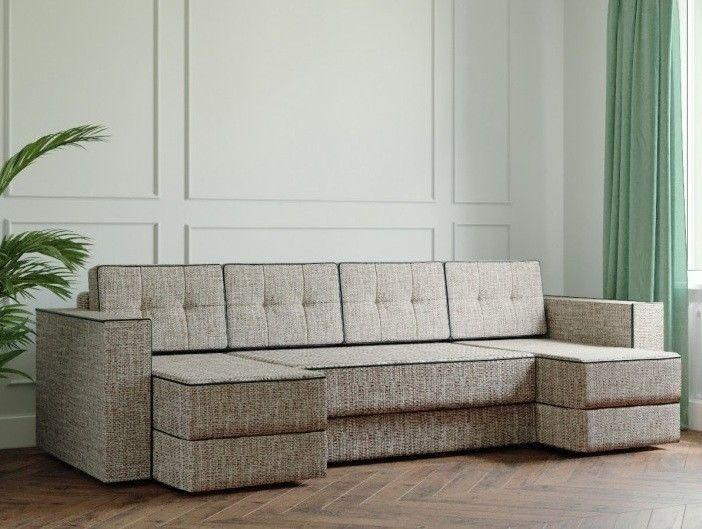 Диван Настоящая мебель Ванкувер Модерн (модель: 00-00000044) светло-коричневый - фото 1