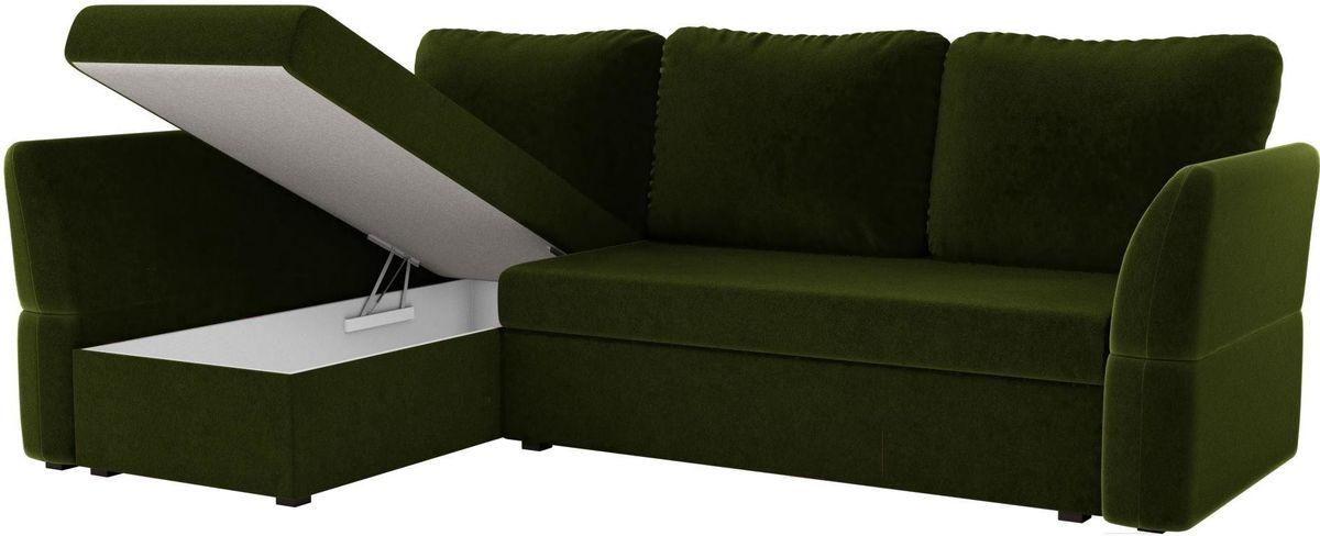Диван Mebelico Гесен 100 левый 60059 микровельвет зеленый - фото 2
