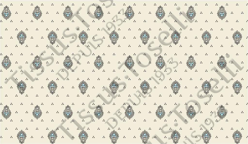 Tissus Toselli Скатерть Bastide Turquoise 150х250 - фото 1