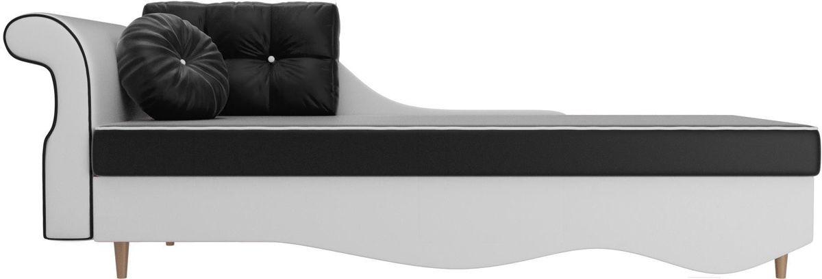 Диван Mebelico Лорд левый 101235 экокожа черный/белый - фото 3