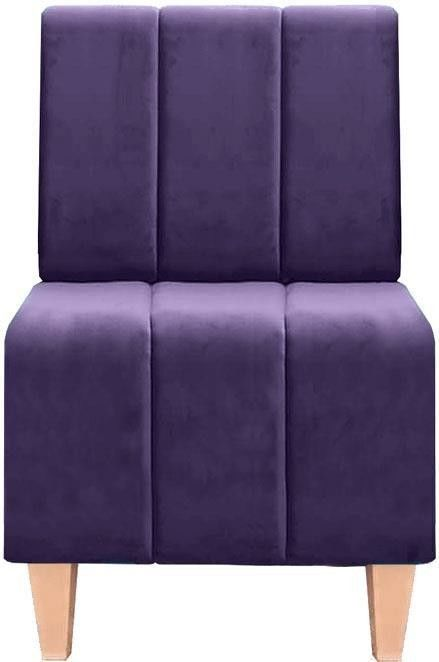 Кресло Brioli Руди полоса Luna 34 - фото 1
