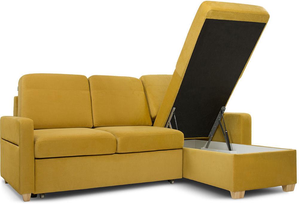 Диван Woodcraft Модульный Гувер-2 Velvet Yellow (уцененный) - фото 8
