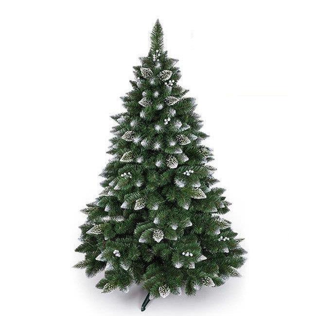 Новогодняя елка GrandSiti Снежная Королева с белым напылением и украшениями 250 см - фото 1