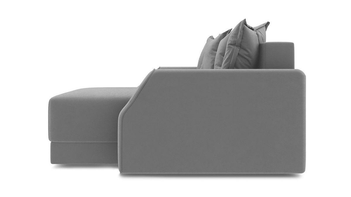 Диван ТриЯ правый «Люксор Slim Т1» (Neo 09 (рогожка) фиолетовый) - фото 3