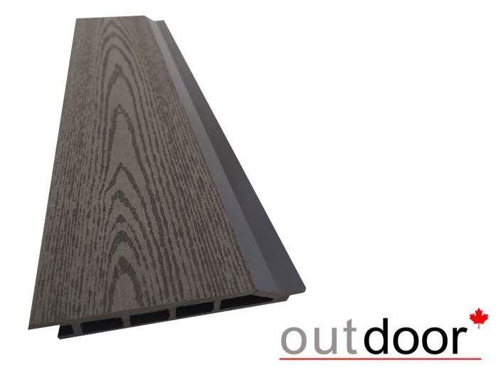 Декинг Outdoor ДПК 1204 166x20x4000 текстура дерево темно-коричневая - фото 1