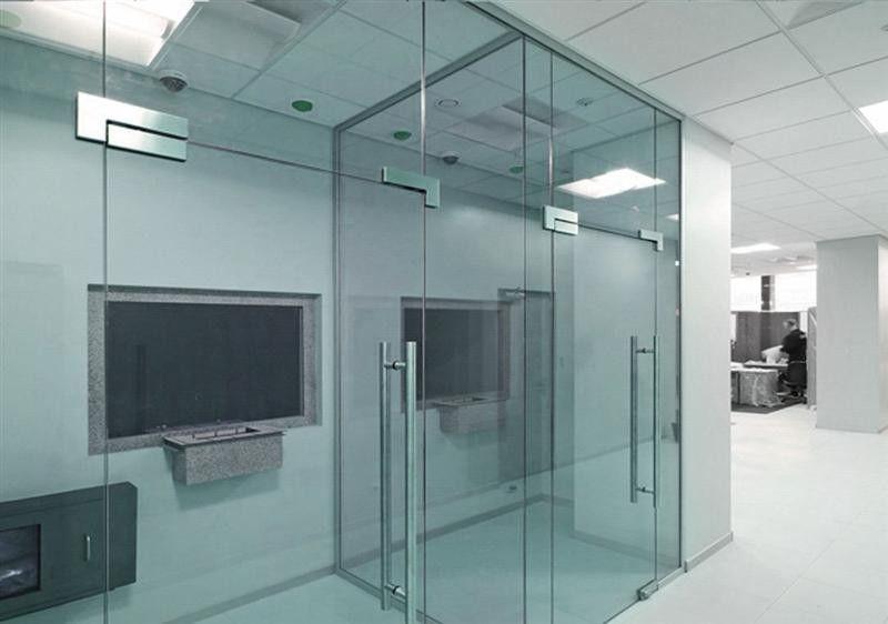 Перегородка Valtera офисная из полированного стекла 6мм - фото 1