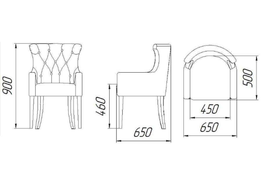 Кресло ZMF Стиль (графит) - фото 2
