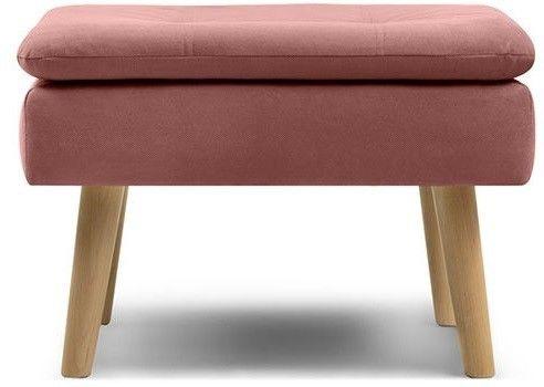 Пуфик Woodcraft Дублин Velvet Pink пуф - фото 1