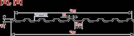 Профнастил Изомат-Строй П-20А,R-1100-0.7-AlZn-ПЭ - фото 2