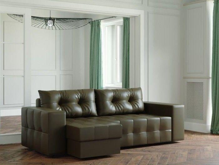 Диван Настоящая мебель Ванкувер Мейсон (модель: 00-00003436) экокожа/коричневый - фото 1
