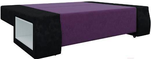 Диван Mebelico Чарли люкс 144 вельвет черный/фиолетовый - фото 2