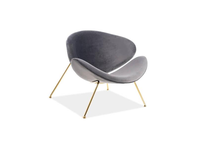 Кресло Signal Major Velvet Gold (серый) - фото 1