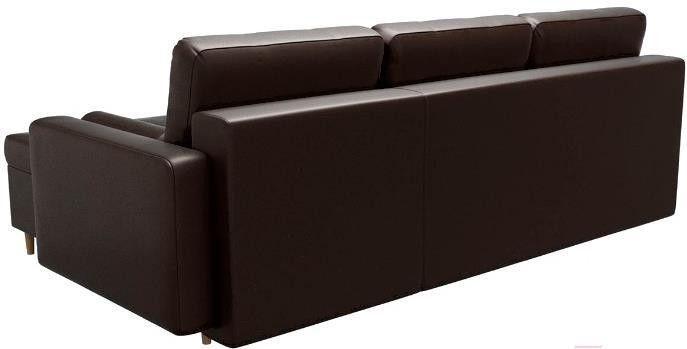 Диван Mebelico Белфаст 492 правый 59062 экокожа коричневый - фото 4