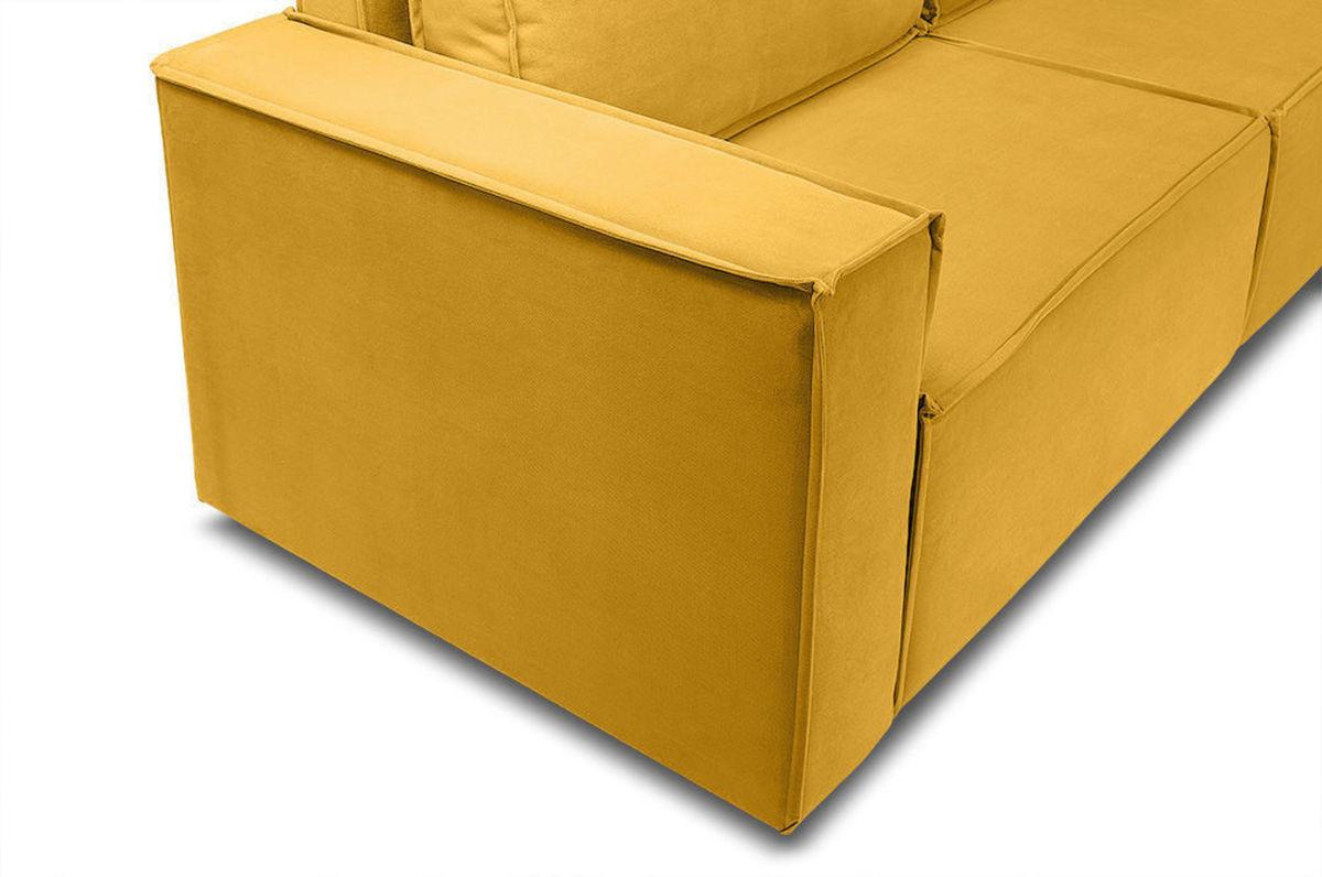 Диван Woodcraft Лофт Velvet Угловой Yellow - фото 10