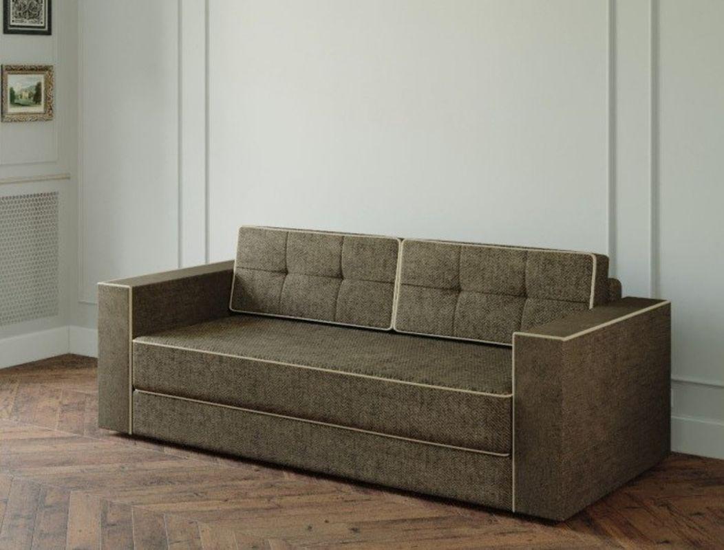 Диван Настоящая мебель Ванкувер Модерн (модель: 00-000034539) ткань/коричневый - фото 1
